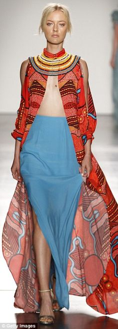Indigenous inspiration: Many of the designers featured work spattered with traditional ind...