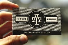 awesome black and white business card