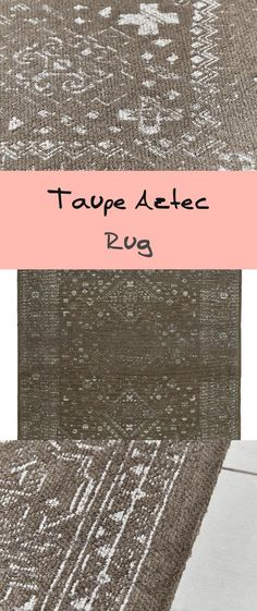 Crafted from a cotton mix for softness with a recent flat weave, our deep taupe-grey rug includes a pale, Aztec impressed sample in gentle white. With an antiqued really feel, this fabulous piece will add texture and elegance to your. Aztec Rug, Grey Rugs, Taupe, Weaving, Room Decor, Texture, Decoration, Crafts, Gray Rugs