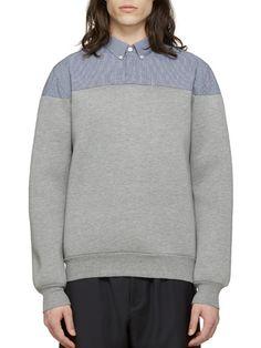 KRISVANASSCHE-grey hybrid sweatshirt