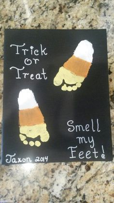 Easy DIY Halloween Crafts for Kids to Make - Handprint & Footprint Art - Hallowe. - Easy DIY Halloween Crafts for Kids to Make – Handprint & Footprint Art – Halloween Crafts for K - Halloween Crafts For Kids To Make, Art Halloween, Halloween Crafts For Preschoolers, Halloween Projects For Toddlers, Preschool Halloween Activities, Fall Art For Toddlers, Fall Crafts For Toddlers, Infant Halloween, Halloween Art Projects