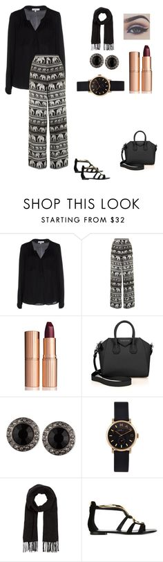 """""""Laila (17)"""" by hipsterfashionista1 ❤ liked on Polyvore featuring Milly, Motel, Charlotte Tilbury, Givenchy, Marc by Marc Jacobs, Comptoir Des Cotonniers and Giuseppe Zanotti"""