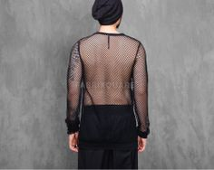 Mens Vandals Mesh Net Ribbed Sleeve at Fabrixquare $36