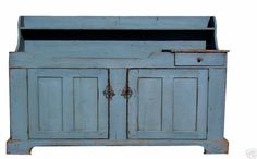 PAINTED ANTIQUE REPRODUCTION PRIMITIVE DRY SINK COUNTRY FARMHOUSE PINE CUPBOARD #NaivePrimitive