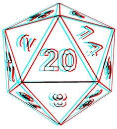 3D D20 Dice