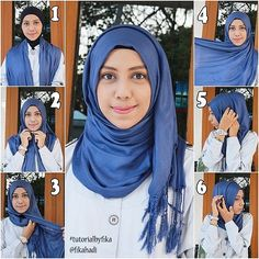 Easy Hijab Tutorial – Step by Step. Simple and casual <3