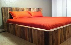 #Pallet #Bed Design - 9 Makeover Ideas to Redesign Your Bedroom | DIY Recycled