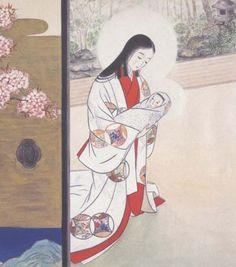 japanesemadonnaspring.JPG (420×476) Madonna of the Cherry Blossoms (spring)