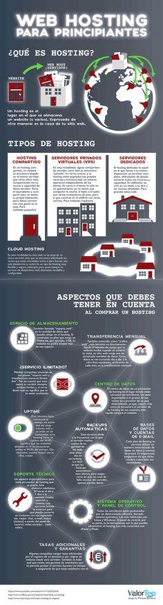 #Web #Hosting para principiantes #infografia