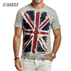 E-BAIHUI Brand new summer style Cotton men Clothing Male Slim Fit t shirt Man T-shirts Casual T-Shirts  Swag mens tops tees Y001