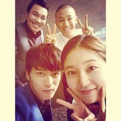 Shorry J shares a photo with Jaejoong, Baek Jin Hee, & Shin Seung Hwan 140729