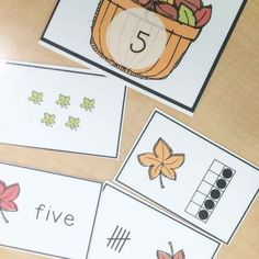Fall math centers-number match
