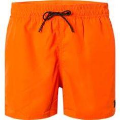 Fire + Ice Bade-Short Herren, Mikrofaser, orange Bogner