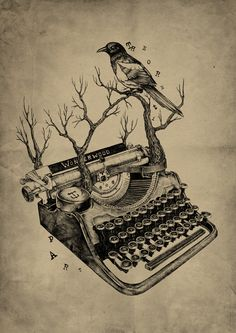 """There's nothing to writing. All you have to do is sit down at the typewriter and bleed."" Hemingway"