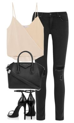 """""""Untitled #2856"""" by elenaday ❤ liked on Polyvore featuring rag & bone, Chelsea Flower, Yves Saint Laurent, Givenchy, thevoice and YahooView"""