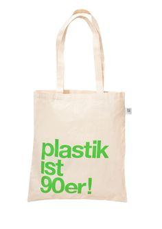 Jutebeutel - plastik ist 90er! Bio-Beutel GRÜN - ein Designerstück von etuj bei DaWanda