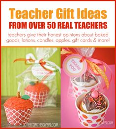 Teacher Gift Ideas - Over 50 Real Teachers Share What They Love To Receive.   Perfect for Teacher Appreciation Week & End Of The School Year.