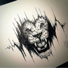 Tattoo. Lion. Heartbeat. Thinking of getting it