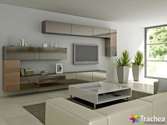 Tv Unit Design, Tv Cabinets, The Unit, Interior Design, Wall Tv, Crushes, Ideas, Lounges, Homes