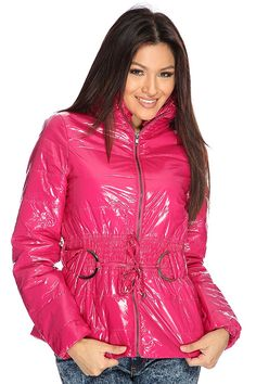 Getting ready for those cold winter days? Well dont give up on style, add this chic puffer jacket to your winter wardrobe for a complete winter collection with style. This jacket is great for any occasion paired with your fave skinnies or leggings you cant go wrong. This style features a vinyl fabric with a quilted stitched detailing, front zipper closure, inner lining, long sleeves, smock collar detail, hip length, smocked waist, tie accent,  and finished with a comfortable fit. 100%…