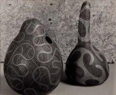 Theo Schoon gourds Maori Designs, Ancient Beauty, Gourds, Illustrators, Concept, Ceramics, Sculpture, Pure Products, Artwork