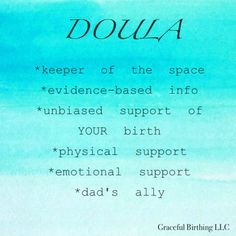 What is the role of a doula?
