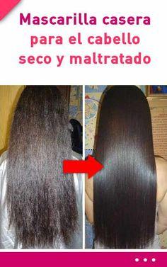 Mascarilla casera para el cabello seco y maltratado #mascarilla #cabello #pelo #seco #maltratado #dañado