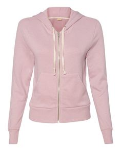 Alternative Mauve Ladies French Terry Hooded Full-Zip 9821 FREE SHIPPING