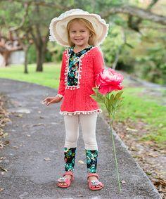 Coral Lucia Tunic & Leggings - Toddler & Girls