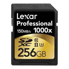 Lexar Professional 1000x 256GB SDXC UHS-II/U3 Card (Up to 150MB/s read) w/Image Rescue 5 Software LSD256CRBNA1000  http://www.discountbazaaronline.com/2015/08/14/lexar-professional-1000x-256gb-sdxc-uhs-iiu3-card-up-to-150mbs-read-wimage-rescue-5-software-lsd256crbna1000/