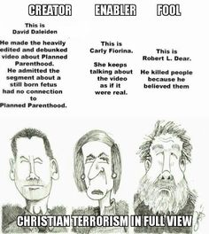 Christian terrorism, Planned Parenthood shooter, Carly Fiorina