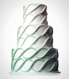 Trendy mint looks ultra modern on this ombre cake.