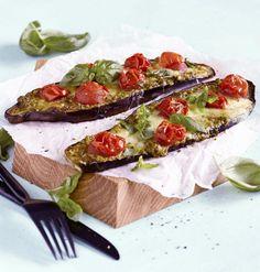 Eggplant pizzas