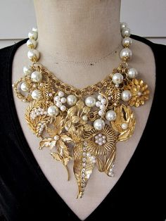 WoW! POP!   Vintage Necklace Wedding Necklace Pearl by rebecca3030, $50.00