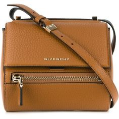Givenchy 'Pandora Box' cross-body bag ($1,865) ❤ liked on Polyvore featuring bags, handbags, shoulder bags, bolsas, brown, brown shoulder bag, crossbody purse, brown cross body, brown purse and brown cross body purse