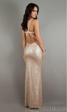 Cute Lace Sleeveless Champagne Natural Long Evening Dresses Sale tzdress4781