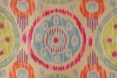 Ikat Pattern Fabric :: TFA Atara Tapestry Upholstery Fabric in Skittles $19.95 per yard - Fabric Guru.com: Fabric, Discount Fabric, Upholstery Fabric, Drapery Fabric, Fabric Remnants, wholesale fabric, fabrics, fabricguru, fabricguru.com, Waverly, P. Kaufmann, Schumacher, Robert Allen, Bloomcraft, Laura Ashley, Kravet, Greeff
