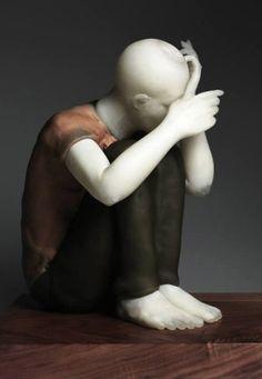 MARTIN JANECKY * Czech Republic ** glass sculpture ~ sitting boy