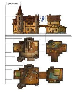 Guillaume Tavernier – Gui… - Minecraft World Architecture Minecraft, Minecraft Buildings, Minecraft Designs, Minecraft Creations, Minecraft Houses Blueprints, House Blueprints, Construction Minecraft, Building Map, Building Ideas