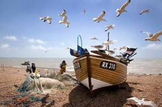 Living the View - Commended & Judge's choice: Fisherman at work, Hastings, East Sussex, England by Corin Brown, London Hastings Beach, Hastings Old Town, Hastings East Sussex, Traveller's Tales, Caravan Holiday, Uk Holidays, Seaside Holidays, British Seaside, Holiday Park