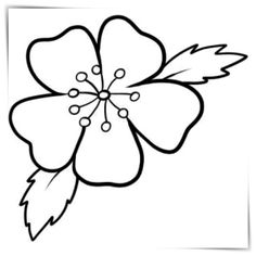 Draw Flower Patterns how to draw a cherry blossom Applique Patterns, Flower Patterns, Easy Fence, Online Drawing, Bamboo Fence, Easy Drawings, Rock Art, Painted Rocks, Hand Embroidery
