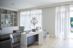 Voile Curtains for Bifold Doors