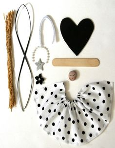 Materials for the cute popsicle stick angel ornament