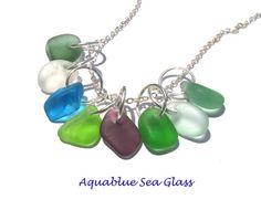 Drilled Sea Glass 8 Drilled Small  Sea Glass  by aquablueseaglass, $18.99