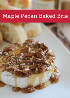 Guests won't want to stop scooping up this warm, creamy Maple Pecan Baked Brie appetizer that's finished off with a satisfying crunch.