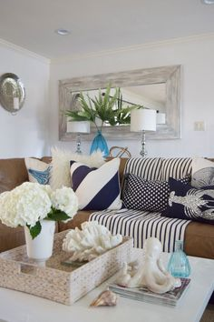 Happy by Design: How to Create a Coastal Living Room