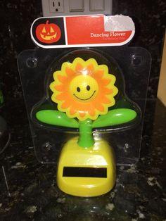 Solar Powered Dancing Big Sunflower  2015 + FREE Gift!! NIP