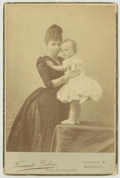 Regent Queen of Spain, Maria Cristina and son, future King Alfonso XIII