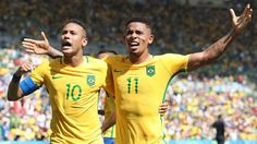 Neymar, left, and Gabriel Jesus, right, have scored six goals between them in Brazil's past three games.