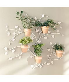 2 Piece Distressed Finish Metal Wall Planter Set | Metal wall ...